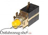 12V Schalter Universal -gelb- mit Kontrollleuchte rund Ausbauteil für Trabant 601