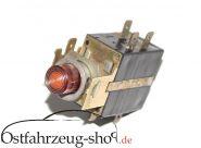 12V Warnblickschalter mit Kontrollleuchte rund Ausbauteil für Trabant 601
