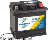 12V/45Ah Cartechnic Starterbatterie Batterie  f. Trabant 601