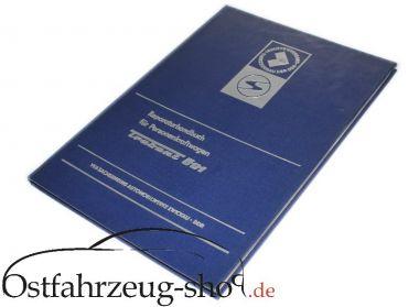 Reparaturhandbuch für Trabant 601