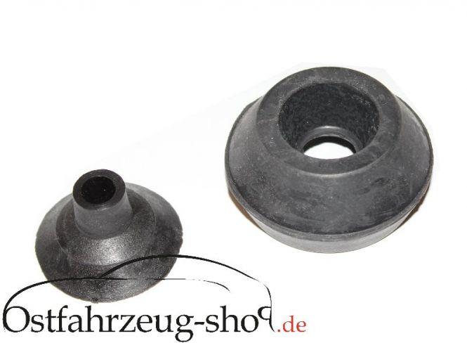 Druckstück mit Abstützgummi für Stoßdämpfer Schraubenfeder hinten Trabant 601, 1.1