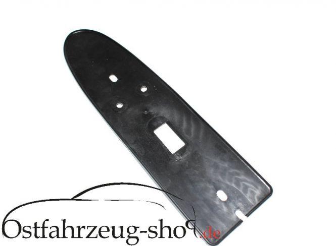 Kederplatte schwarz für Rücklicht  Trabant 601, 1.1