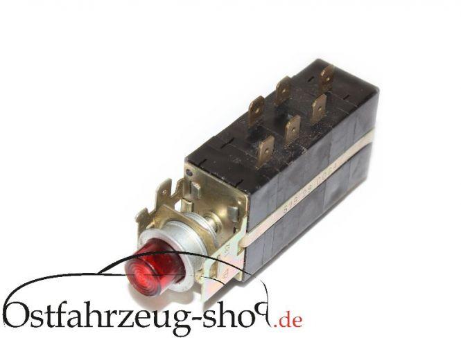 Schubschalter Warnblinkschalter 8600.32, 619290064, für Wartburg 353
