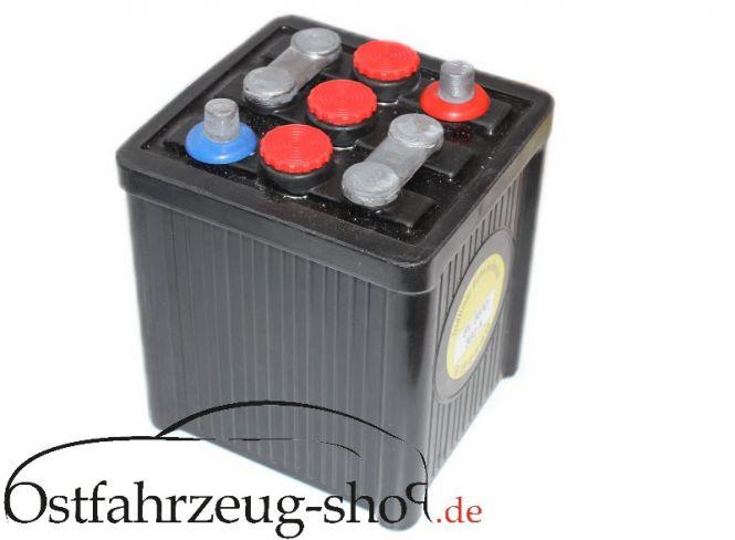Batterie 6V 56Ah im Original Hartgummigehäuse für Trabant 500,600,601